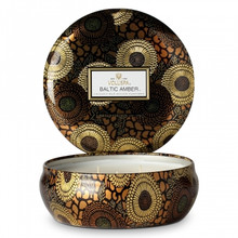 Voluspa Japonica Collection Baltic Amber Limited Edition Three Wick Tin Candle