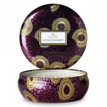Voluspa Japonica Collection Santiago Huckleberry Limited Edition Three Wick Tin Candle