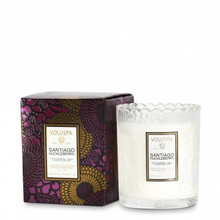 Voluspa Japonica Collection Santiago Huckleberry Limited Edition Scalloped Edge Glass Candle