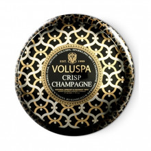 Voluspa Maison Noir Collection Crisp Champagne Two Wick Tin Candle