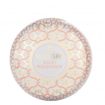 Voluspa Maison Blanc Collection Saijo Persimmon Two Wick Tin Candle
