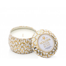 Voluspa Maison Blanc Collection Suede Blanc Travel Tin Candle