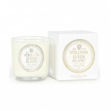 Voluspa Maison Blanc Collection Suede Blanc Classic Boxed Votive Candle