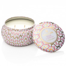 Voluspa Maison Blanc Collection Pink Citron Two Wick Tin Candle