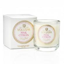 Voluspa Maison Blanc Collection Pink Citron Classic Boxed Votive Candle