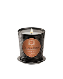 Aquiesse Portfolio Collection Golden Amber Tin Candle With Matchbook
