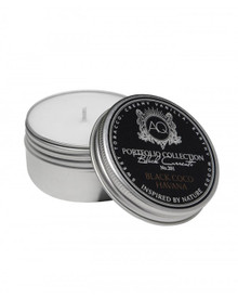 Aquiesse Black Currents Collection Black Coco Havana Travel Tin Candle
