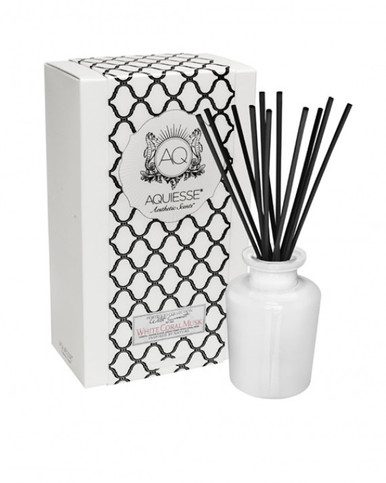 Aquiesse White Current Collection White Coral Musk Reed Diffuser