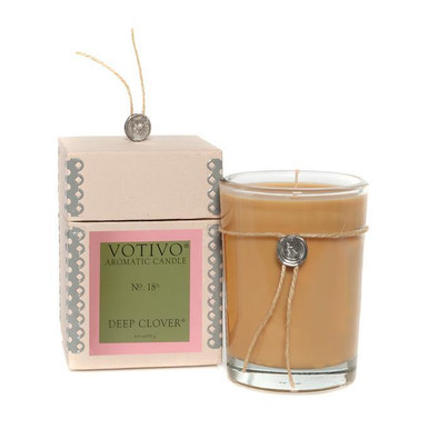 Votivo Aromatic Collection Green Clover Boxed Candle