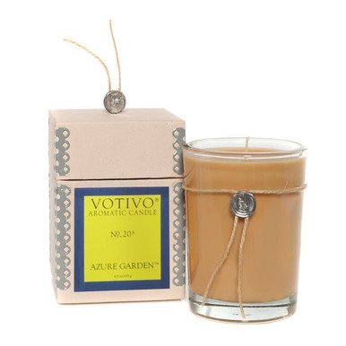 Votivo Aromatic Collection Azure Garden Boxed Candle
