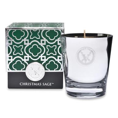 Votivo Holiday Collection Christmas Sage Glass Candle