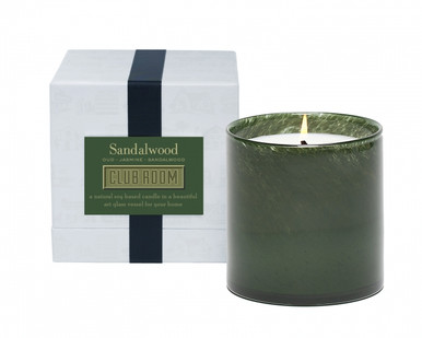 LAFCO Club Room/Sandalwood House & Home Glass Candle
