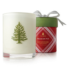 Thymes Fraser Fir Collection Holiday Wood Wick Candle