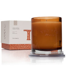 Thymes Lotus Santal Collection Glass Candle