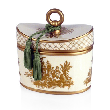 Seda France Malaysian Bamboo Classic Toile Ceramic Two Wick Candle