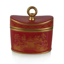 Seda France Red Amber Jardins du Seda France Ceramic Two-Wick Candle