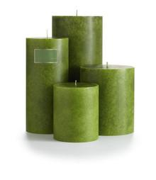 "Illume Chanterelle Moss 4"" x 4.5"" Pillar Candle"