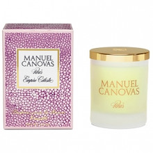 Manuel Canovas Empire Celeste Large Glass Candle With Lid
