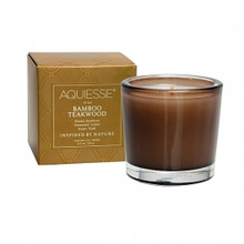 Aquiesse Portfolio Collection Bamboo Teakwood Votive Candle