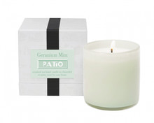 LAFCO Geranium Mint/ Patio House & Home Glass Candle