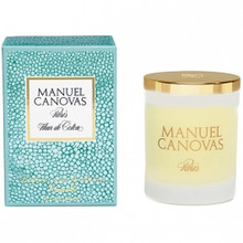 Manuel Canovas Fleur de Coton Large Glass Candle With Lid