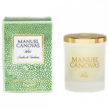 Manuel Canovas Jardin de Lantana Large Glass Candle With Lid