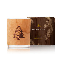 Thymes Frasier Fir Holiday Woodwick Candle