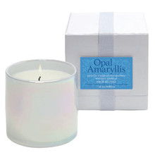 LAFCO Holiday Collection Opal Amaryllis Glass Candle