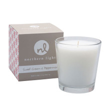 Northern Lights Fragrance Palette Sweet Cream & Peppermint White Boxed Candle