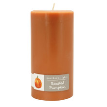 "Northern Lights Roasted Pumpkin 3"" x 6"" Pillar Candle"
