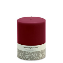 "Northern Lights Candles Unscented 3"" x 4"" Amethyst Pillar Candle"