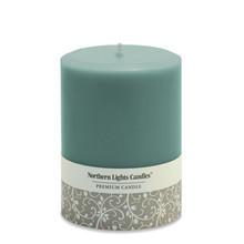 "Northern Lights Candles Unscented 3"" x 4"" Turquoise Pillar Candle"