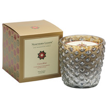 Northern Lights Jubilee Collection Cinnamint Silver Glass Candle