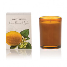 Rosy Rings Lemon Blossom & Lychee Botanica Glass Candle