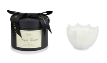 D.L. & Co. Angel's Trumpet Small Scalloped Glass Candle