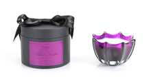 D.L. & Co. Black Dahlia Medium Scalloped Glass Candle