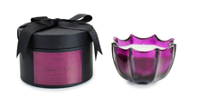 D.L. & Co. Black Dahlia Large Scalloped Glass Candle