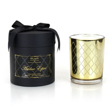 D.L. & Co. Maison Collection Amber Epice Gold Glass Candle
