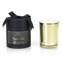 D.L. & Co. Maison Collection Cedar Noir Gold Glass Candle