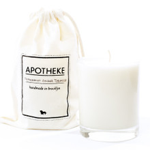 Apotheke Peppermint Ginger Tobacco Whiskey Glass Soy Candle