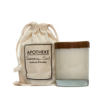 Apotheke Ginger Lemon Tea Whiskey Glass Soy Candle