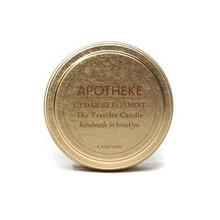 Apotheke Cedar Bergamot Soy Traveler Candle