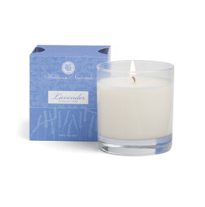 Hillhouse Naturals Lavender Glass Boxed Candle