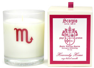 Scorpio: Geranium and Geranium Candle: 24 Oct. - 21 Nov.