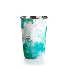 Illume Watermint Enameled Tumbler Tin Scented Candle