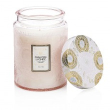 Voluspa Japonica Collection Panjore Lychee Large Embossed Glass Jar Candle