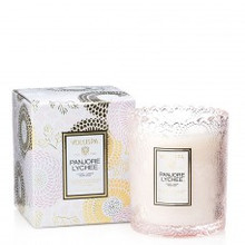 Voluspa Japonica Collection Panjore Lychee Scalloped Edge Glass Candle