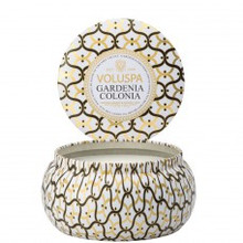 Voluspa Maison Blanc Collection Gardenia Colonia Two Wick Tin Candle