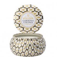 Voluspa Maison Blanc Collection Gardenia Colonia Two Wick Tin Candle