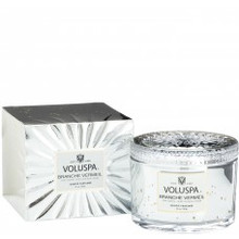Voluspa Vermeil Collection Branche Vermeil Corta Maison Boxed Candle With Lid